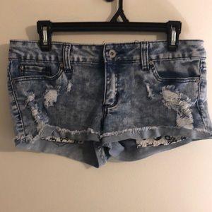LOVEsick Distressed Shorts